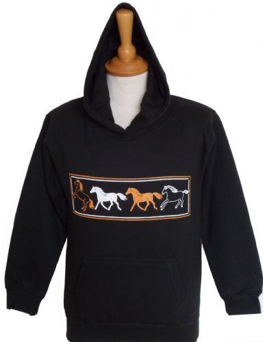 British Country Collection 'Four Horses' Hoodie